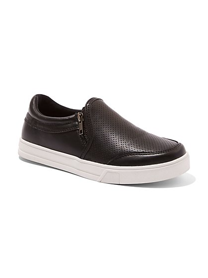 Zip-Accent Slip-On Sneaker  - New York & Company