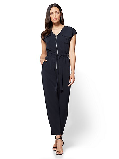 Zip-Front Jumpsuit - Petite - New York & Company