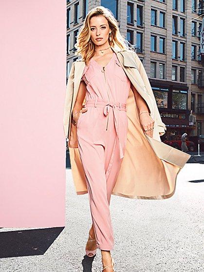 Zip-Front Jumpsuit - New York & Company