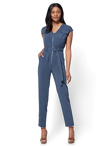 Zip-Front Jumpsuit - New York & Company