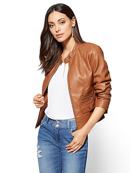Zip-Front Moto Jacket  - New York & Company