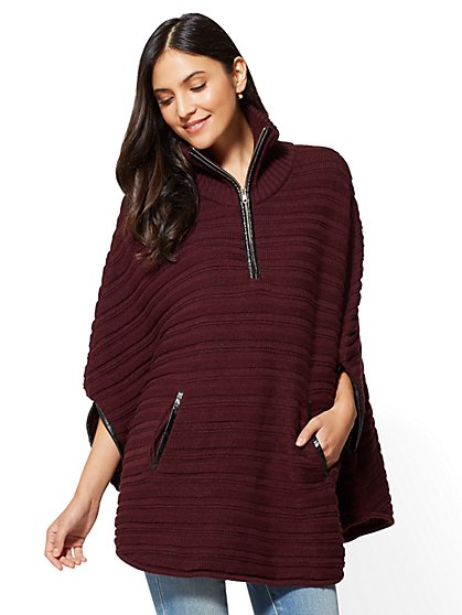 Zip-Front Poncho - New York & Company