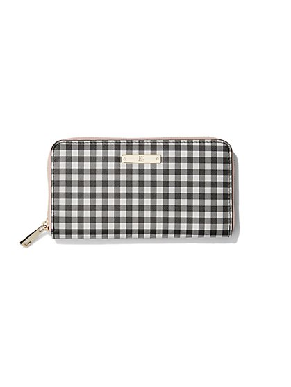 Ziparound Wallet - Gingham  - New York & Company