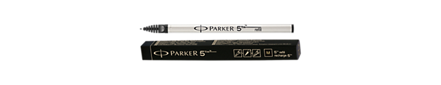 Parker 5THTM Refill - Black medium nib