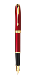 Sonnet Red - Medium 18K gold nib