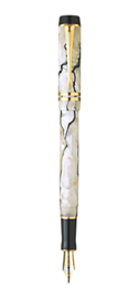 Duofold Pearl & Black Centennial Fountain Pen - Medium 18K gold nib
