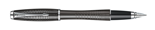 Urban Premium Metallic Black Chiselled Fountain Pen - Medium stainless steel nib