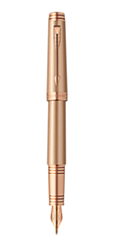 Premier Monochrome Pink Gold Fountain Pen - Fine 18K gold nib