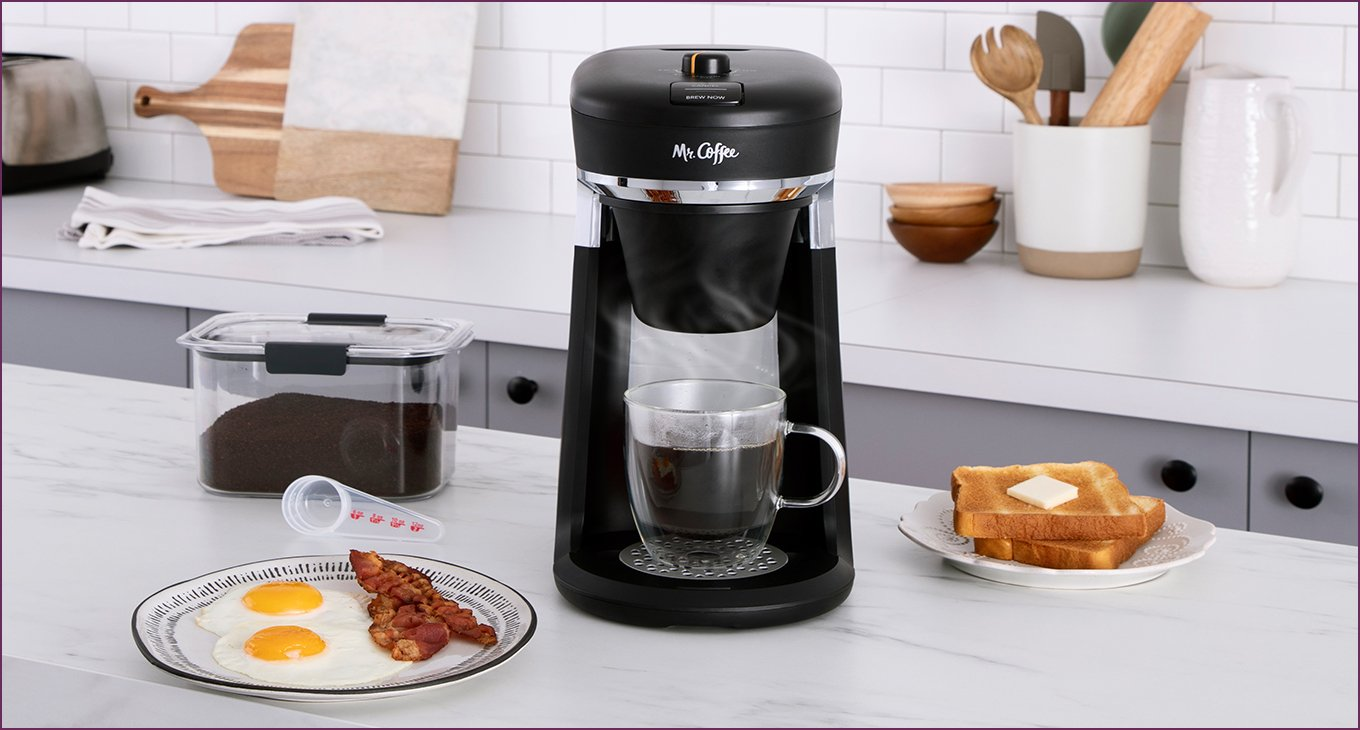 New resolution: Mr. Coffee Hot Cup Single Serve Coffee Maker