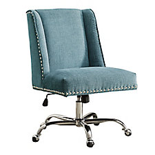 Draper Armless Chair with Chrome Base in Fabric, CH51798
