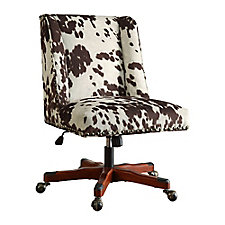 Draper Armless Chair with Wood Base in Microfiber, CH51799