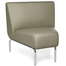 Triumph 45 Degree Armless Guest Chair with Chrome Legs in Polyurethane, CH51214