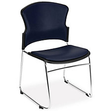 MultiUse Antimicrobial Vinyl Armless Stack Chair, CH51786
