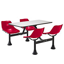 "65"" W x 48"" D Cluster Lunchroom Table with Chairs, CH03676"