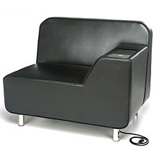 Serenity Polyurethane Left Arm Lounge Chair with Electrical Outlet, CH51203