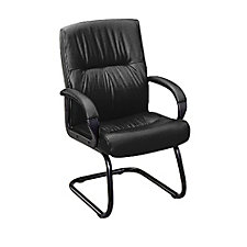 Leather Guest Chair with Arms, CH01060