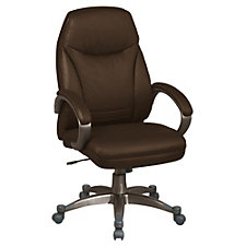 Work Smart High Back Faux Leather Executive Chair, CH04369
