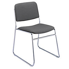 Fabric Stack Chair with Sled Base, CH02486
