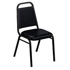 Vinyl Stack Chair with Black Frame, CH02495