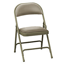 "Vinyl Folding Chair with 1-3/8"" Seat, CH50336"