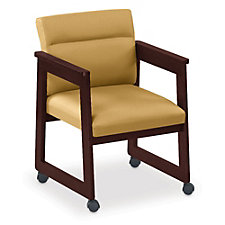 Classic Tapered Arm Guest Chair with Casters, CH04414