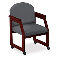 Classic Round Back Guest Chair with Casters, CH04416