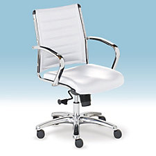 Europa Leather Mid-Back Task Chair, CH50581
