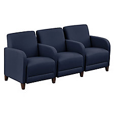 "Three Seater with Center Arms in Fabric - 75.5""W, CH51528"
