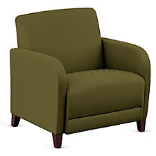 """Parkside Oversized Guest Chair in Faux Leather or Fabric - 31""""W, CH51531"""