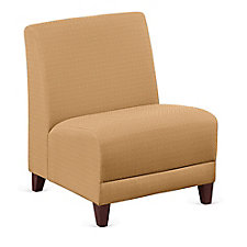 """Faux Leather or Patterned Fabric Armless Oversized Guest Chair - 25""""W, CH51536"""