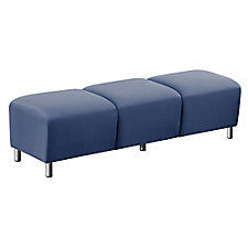 """Faux Leather or Patterned Fabric Three Seat Bench - 43""""W, CH51538"""