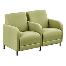 """Faux Leather or Patterned Fabric Two Seater with Center Arm - 51.5""""W, CH51540"""
