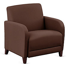 """Leather Oversized Guest Chair - 31""""W, CH51545"""