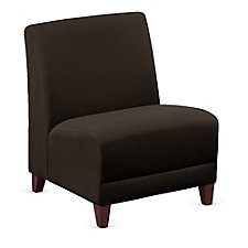 "Leather Armless Oversized Guest Chair - 25""W, CH51550"