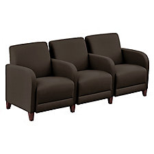 "Leather Three Seater with Center Arms - 75.5""W, CH51556"