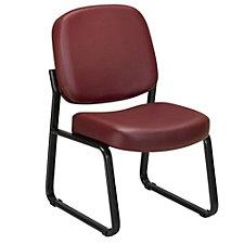 Vinyl Armless Guest Chair, CH02450