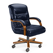 Horizon Mid Back Leather Chair, CH04445