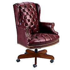 Leather Traditional High Back Chair, CH01650