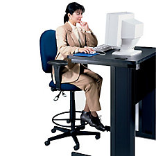 High Back Ergonomic Stool with Arms, CH02082