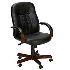 Shephard Bonded Leather Hardwood Frame Computer Chair, CH00193