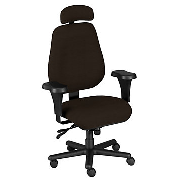 Big and Tall Chair with Arms and Headrest, BTC10110-H1