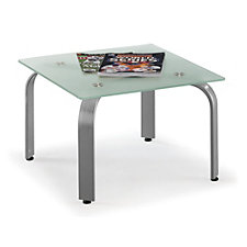 Square Glass Top End Table, CH50193