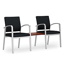 Newport Solid Fabric Double Guest Chair with Center Table, CH51261