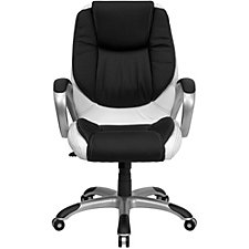 Elmwood Bonded Leather Two-Tone Task Chair, CH51282