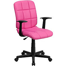 Simmons Vinyl Quilted Cushion Task Chair, CH51285