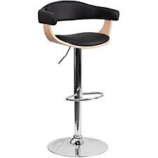 Hobbs Vinyl Covered Back Wood Breakroom Stool, CH51293