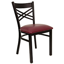 Jackson Vinyl Seat Cross Back Cafe Chair , CH51479