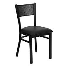 Jackson Vinyl Seat Metal Mesh Back Cafe Chair , CH51481