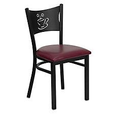 Jackson Vinyl Seat Coffee Back Design Cafe Chair , CH51483