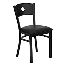Jackson Vinyl Seat Circle Back Design Cafe Chair, CH51485
